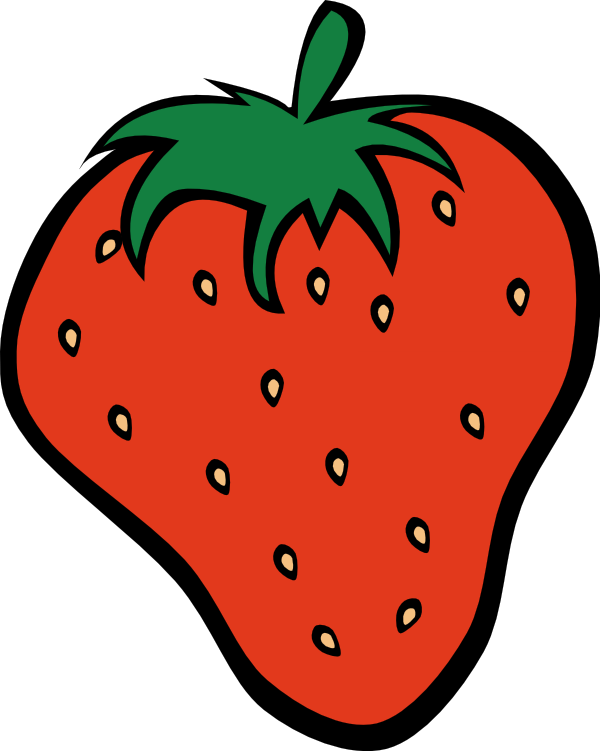 Strawberries clipart printable, Strawberries printable.