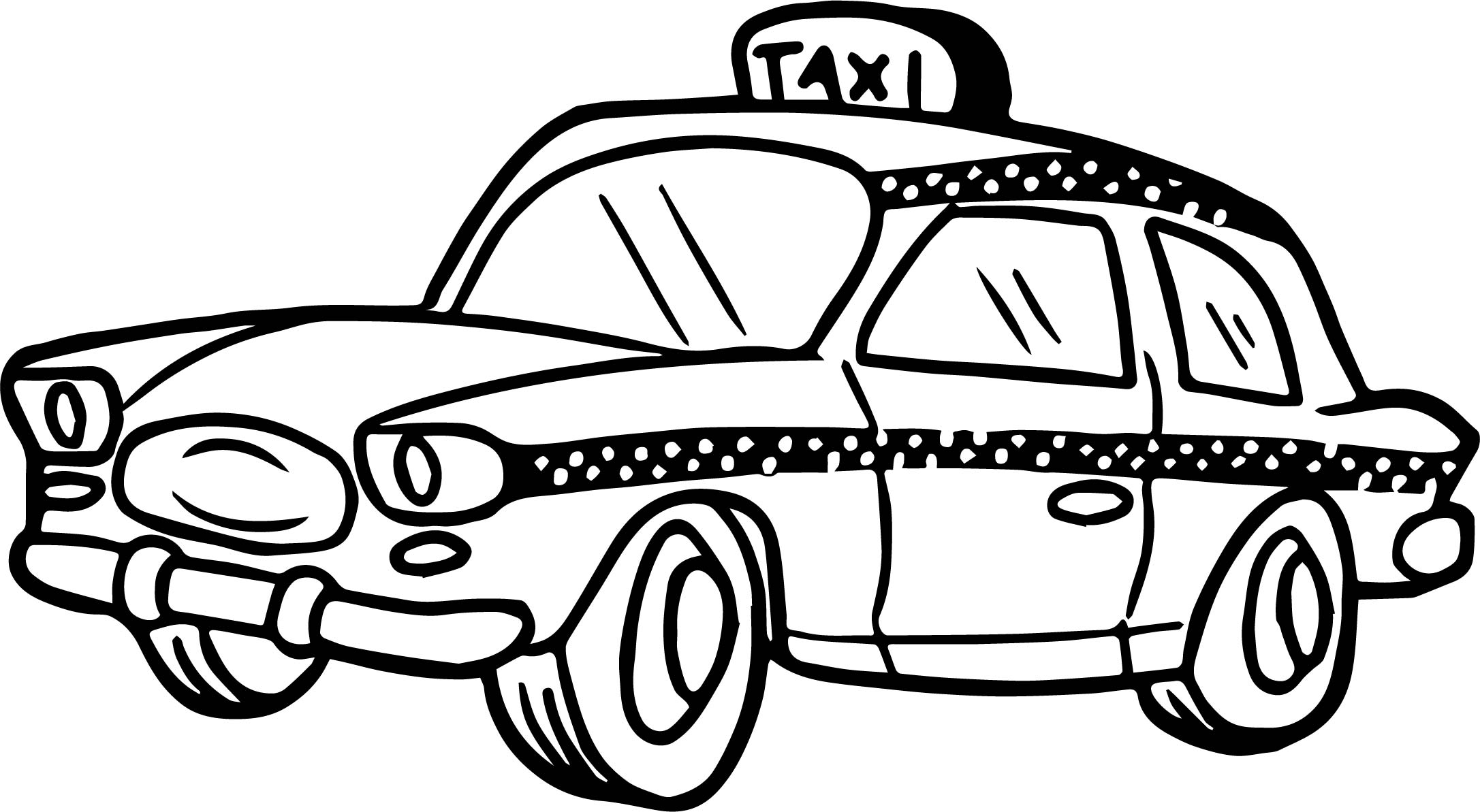 Taxi clipart black and white 5 » Clipart Station.