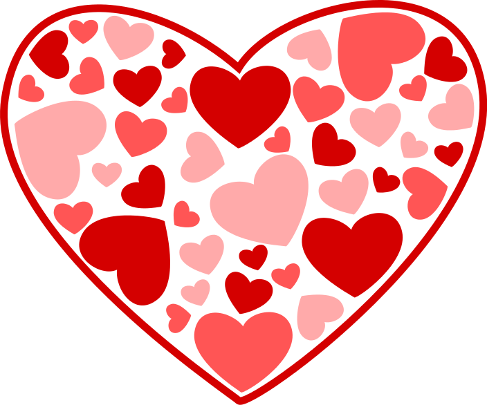 Free Valentine Hearts Clipart, 5 pages of Public Domain Clip.