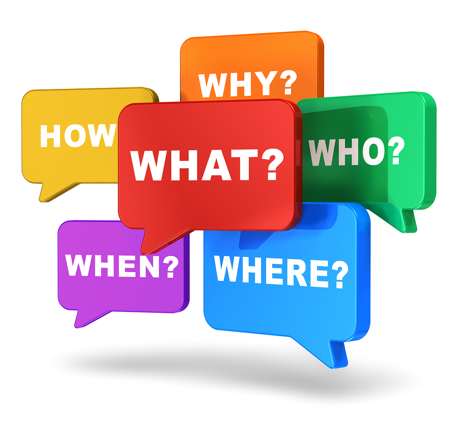 Learn How to Ask the 5 W\'s + H + E Questions.
