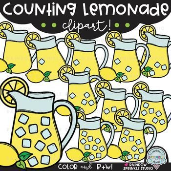 Counting Lemonade FLASH FREEBIE! {teacher appreciation.