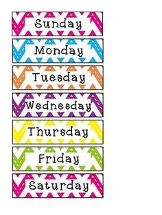 Days Of The Week Clipart 5.