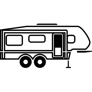 Camper clipart 5th wheel camper, Camper 5th wheel camper.