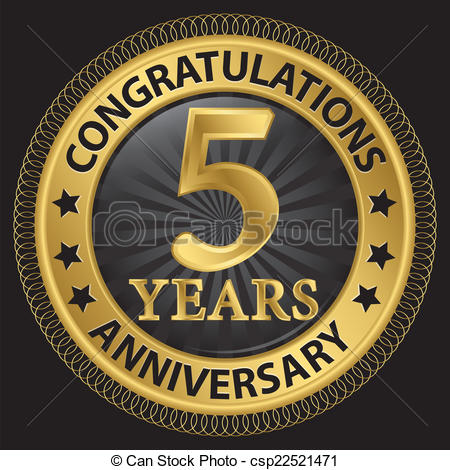 5 year anniversary Clip Art Vector and Illustration. 617 5 year.