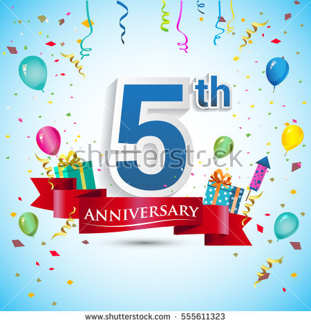 5 Year Anniversary Stock Images, Royalty.