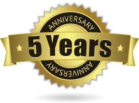Wedding Anniversary 5 Years Stock Illustrations, Cliparts And.