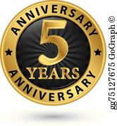 5 Year Anniversary Clip Art.