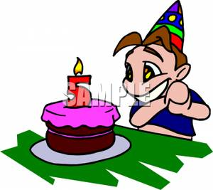 5 Year Old Birthday Clipart.