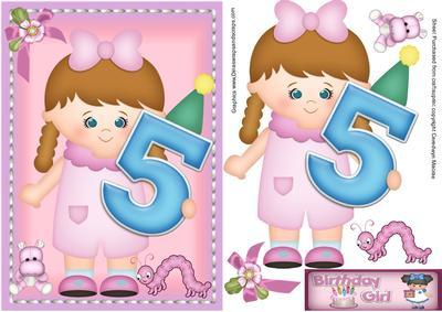 Happy Birthday 5 Year Old Girl.