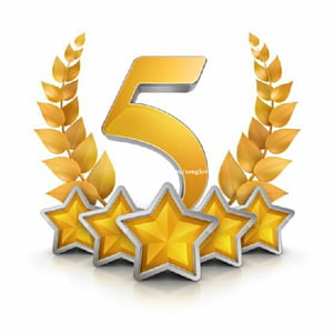 Five gold stars illustration, United States 5 star Award , 5.