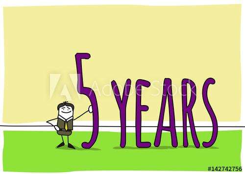5 years : Celebration of a business anniversary.