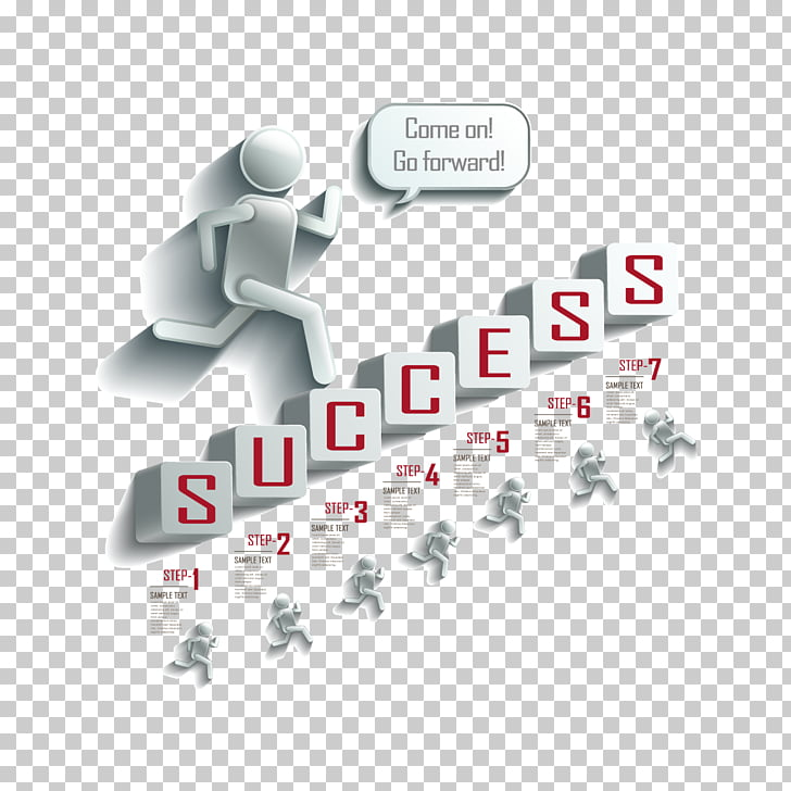 Infographic , people on the steps, Success chart.