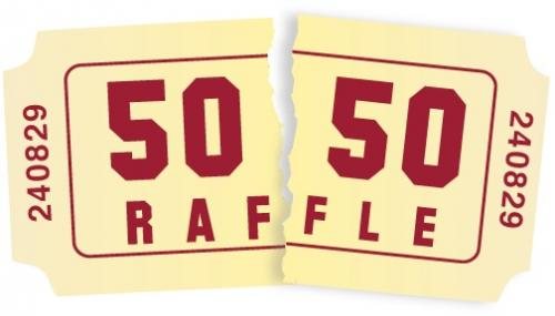 50/50 Raffle Ticket Clipart.