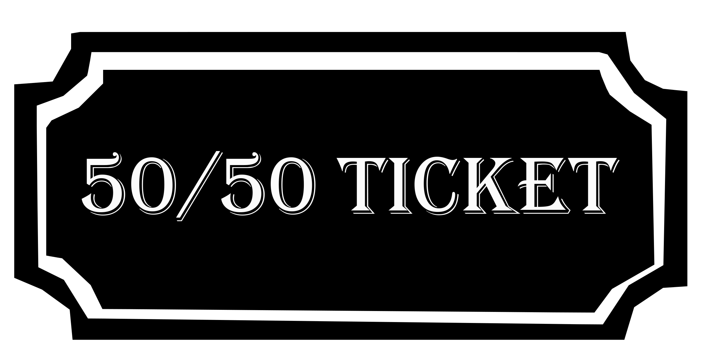 50/50 Tickets Make Awesome Surprise Gifts For Friends.