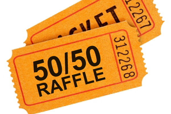 50/50 Raffle Ticket Clipart.