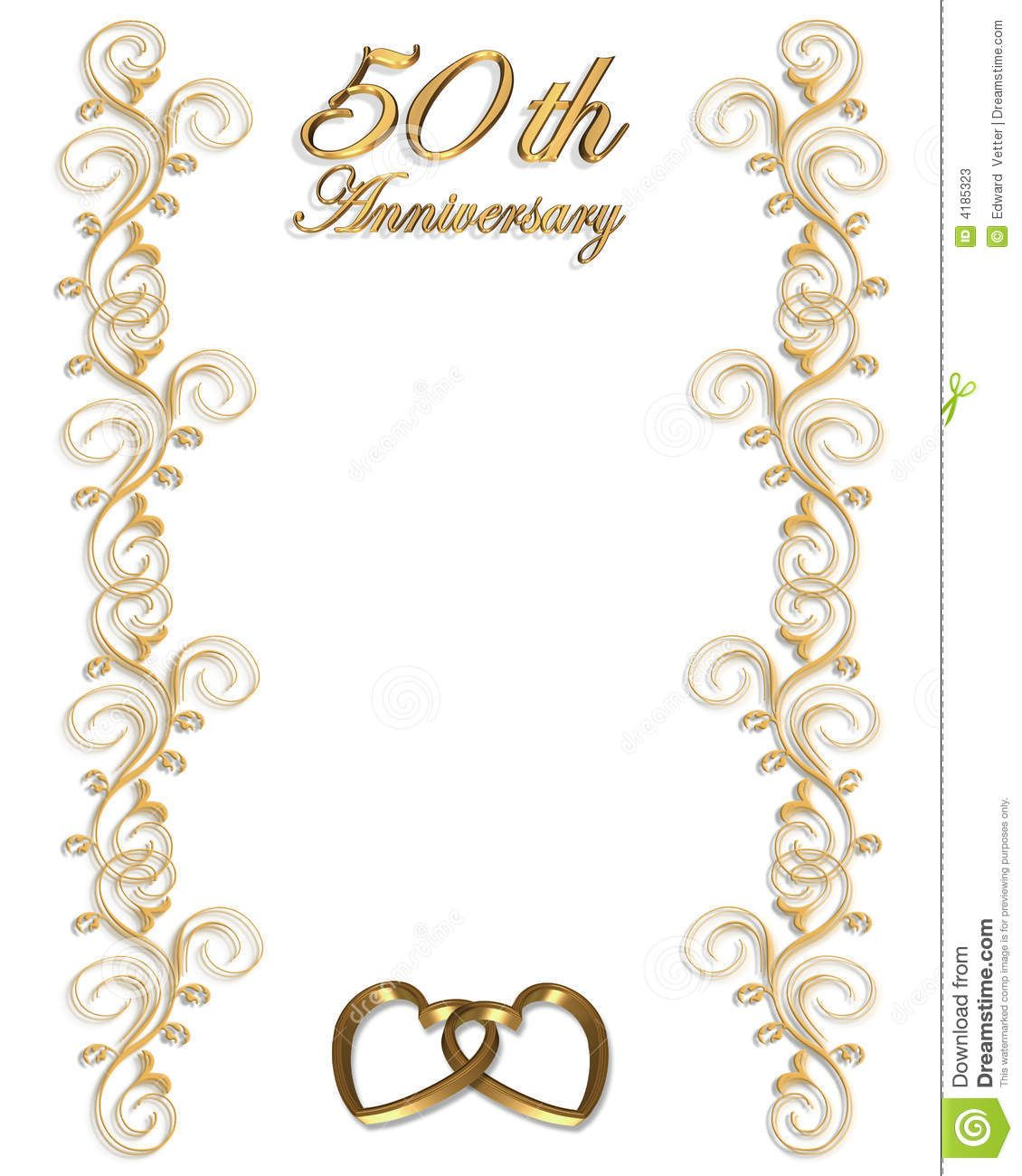50th Anniversary Hearts Clipart.