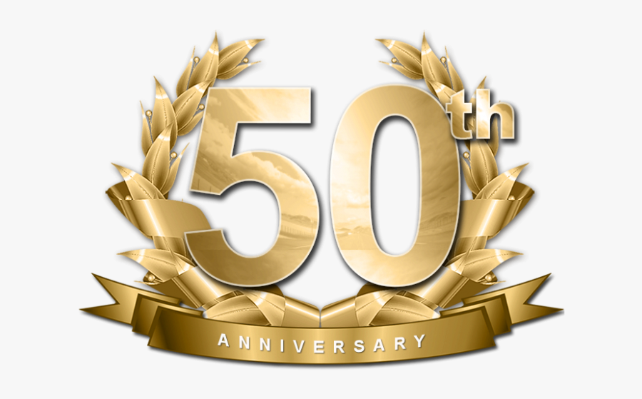 50th Gold Png.