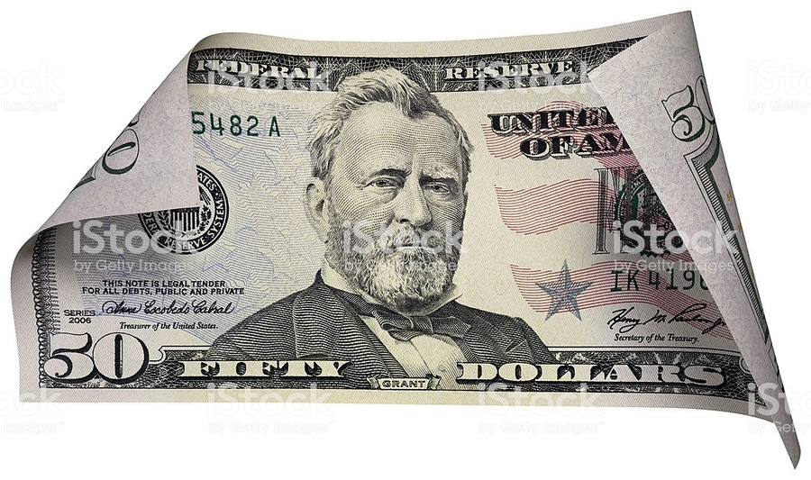 Download 50 dollar bill clipart United States fifty.