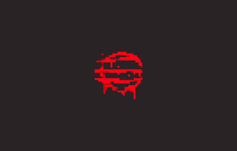 Wallpaper Logo, Sign, red, logo, sign, gray, Hotline Miami 2.