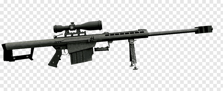 Gray and black sniper rifle, Barrett M82 Assault rifle .50.