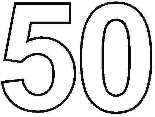 Number 50 Clipart.