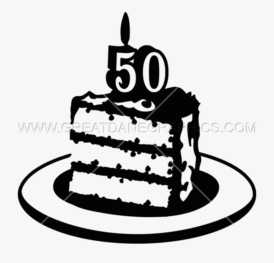 Cake Black And White Clipart Cartoon.