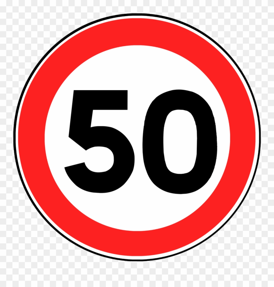 50 Speed Limit Sign Clipart (#776473).