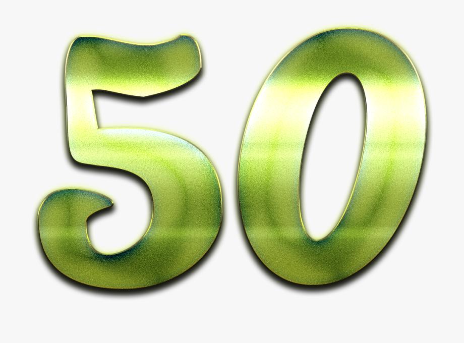 50 Number Green Design Png.