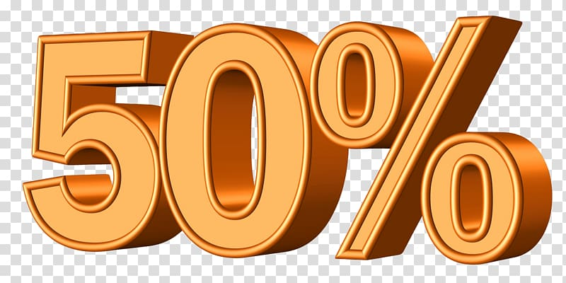 Orange 50% illustration, Percentage Statistics Pixabay.