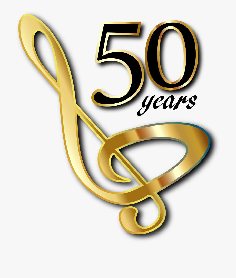 Golden Anniversary Clipart.