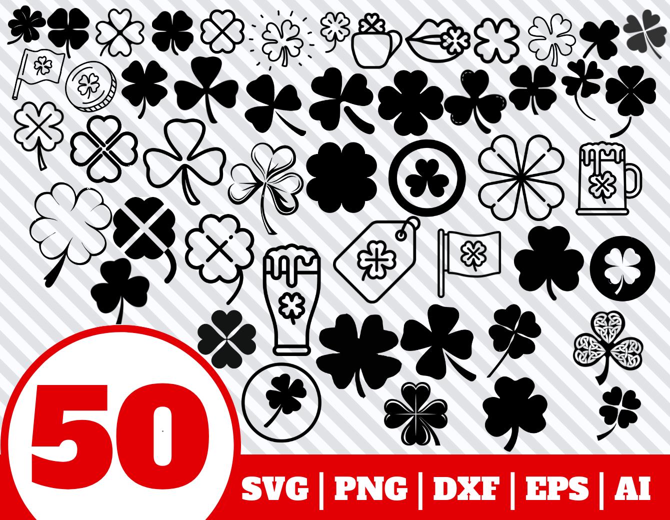 50 CLOVER SVG BUNDLE.