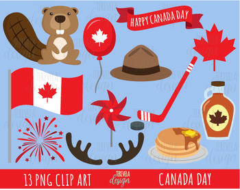 50% SALE CANADA DAY clipart, canada clipart, maple syrup, beaver, maple leaf.