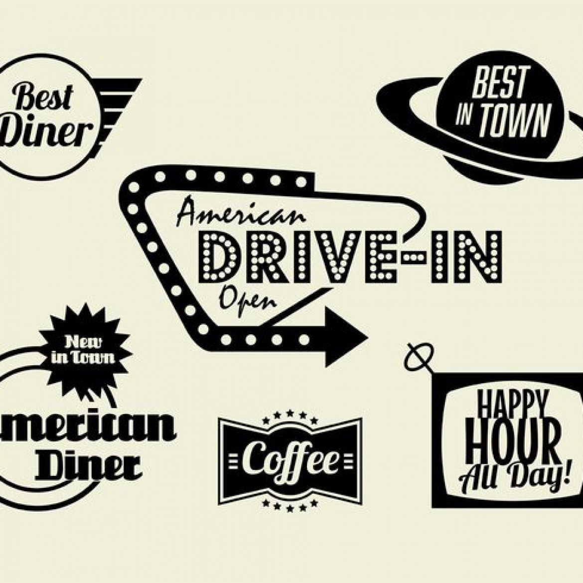 Free download 50s Diner Coffee and Fast Food Pack [1170x1170.