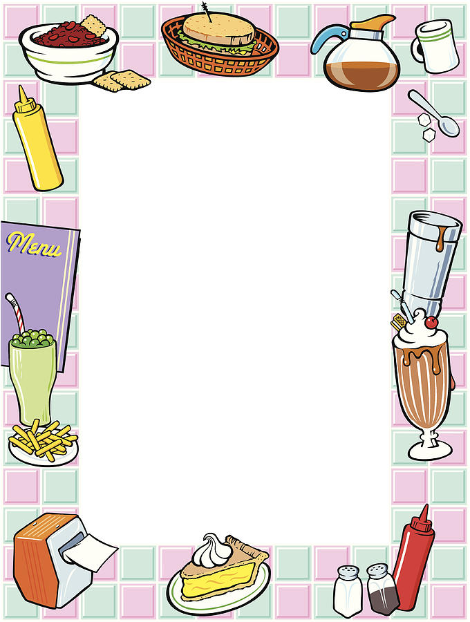Border, 50,s Diner, Menu, Color, Grouped Elements by Dynamic Graphics.