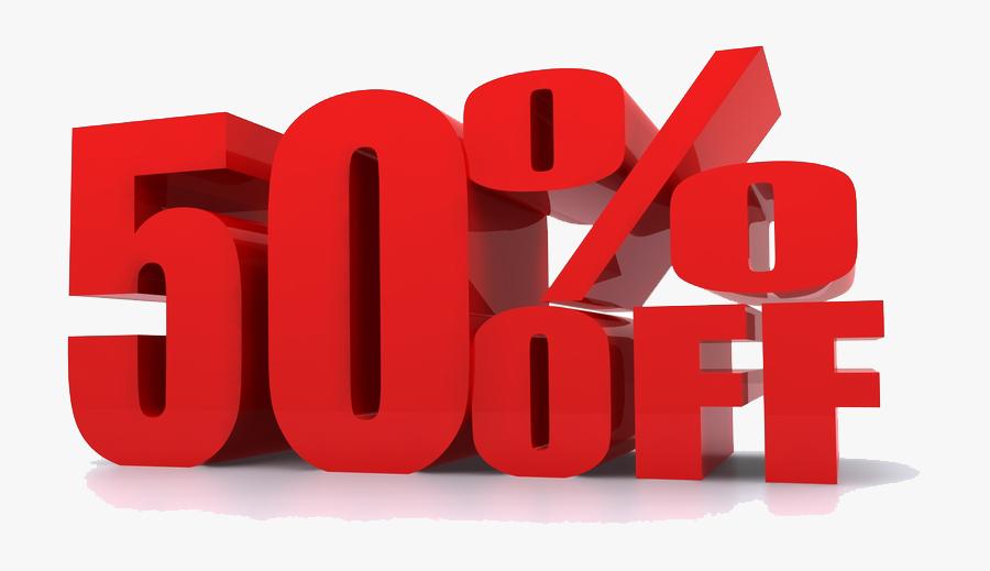 50% Discount Png , Free Transparent Clipart.