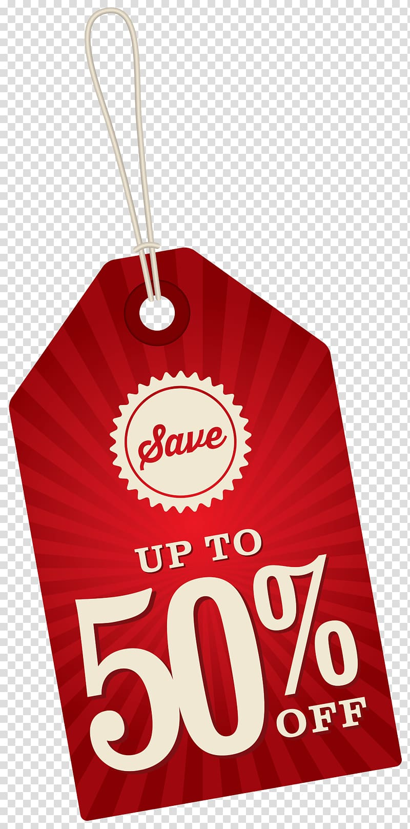 Red product tag, Sales , Save Up To 50% Off Label.