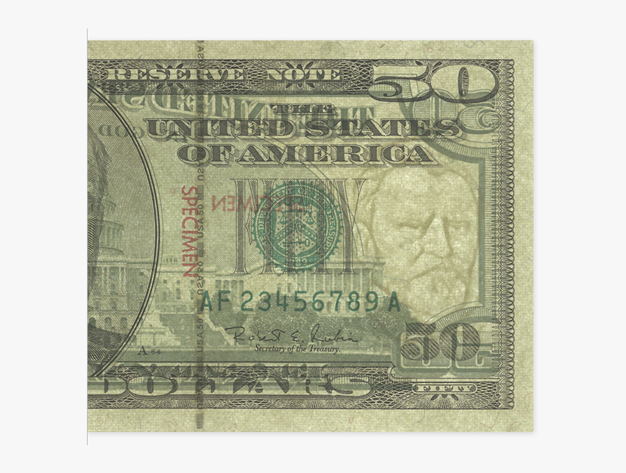 Clip Art 50 Dollar Bill Face.