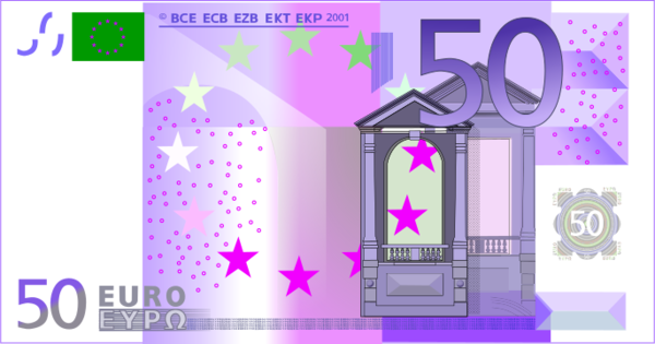 50 Euro Note.