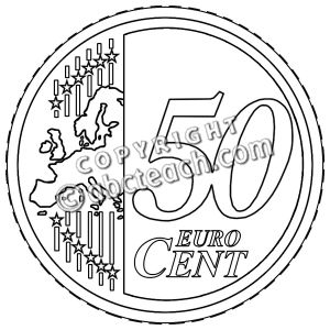 50 cent clipart.