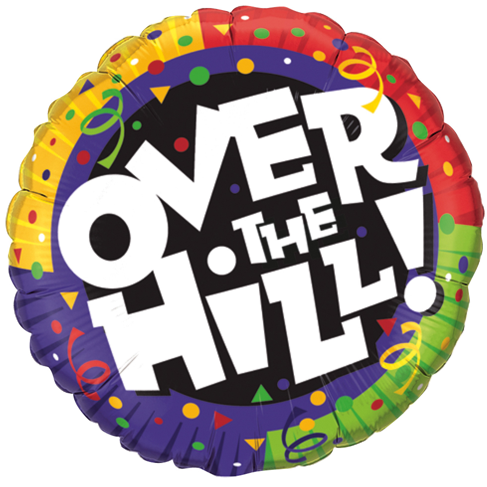 Over The Hill Birthday Clipart.