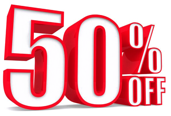 50 Percent Off Transparent Image.