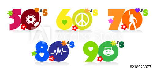 Music of fifties, sixties, seventies eighties and nineties.