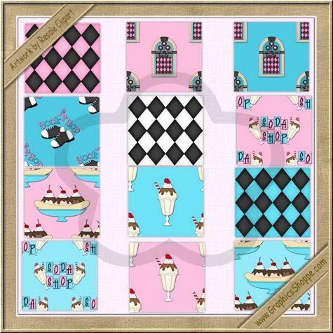 Background Designs 50s Sock Hop Background Tiles By Resale.