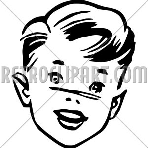 50s hair clip art Transparent pictures on F.