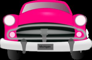 Pink Car Front Clip Art.