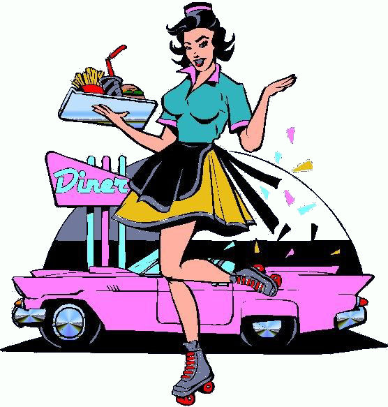 50s clipart waitress, 50s waitress Transparent FREE for.
