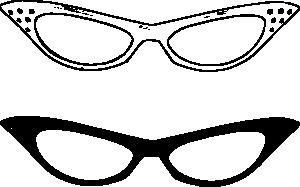 Retro Glasses Clip Art.