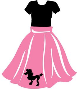 50s clipart poodle skirt, 50s poodle skirt Transparent FREE.