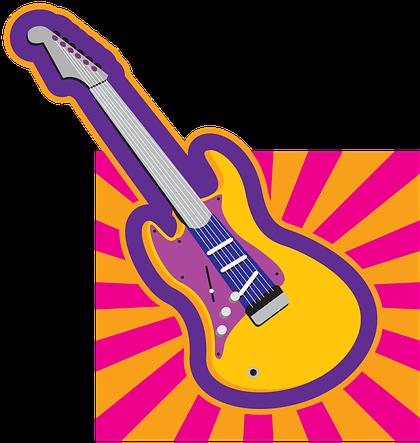Clipart Retro Guitar Classic People 50s 40s.