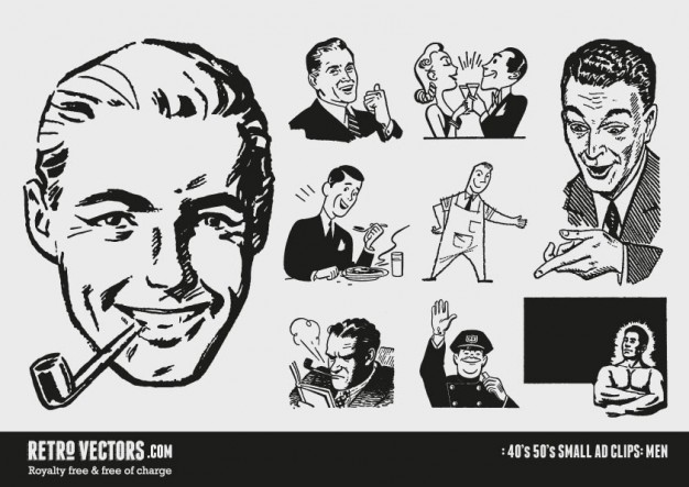 50s small ad clipart Vector.